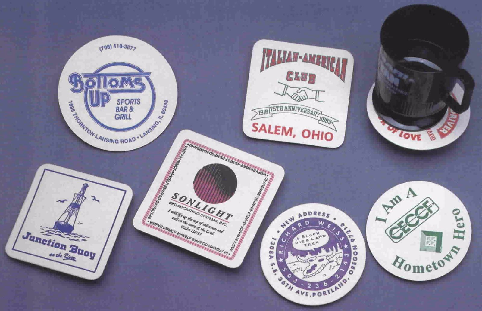 Branding Ideas Using Coasters Postcardsrus