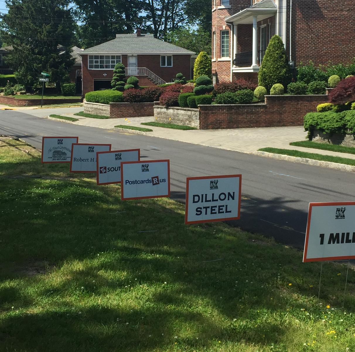 Mile Marker Lawn Signs