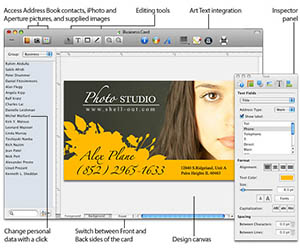 Free business card design software postcardsrus reheart Gallery